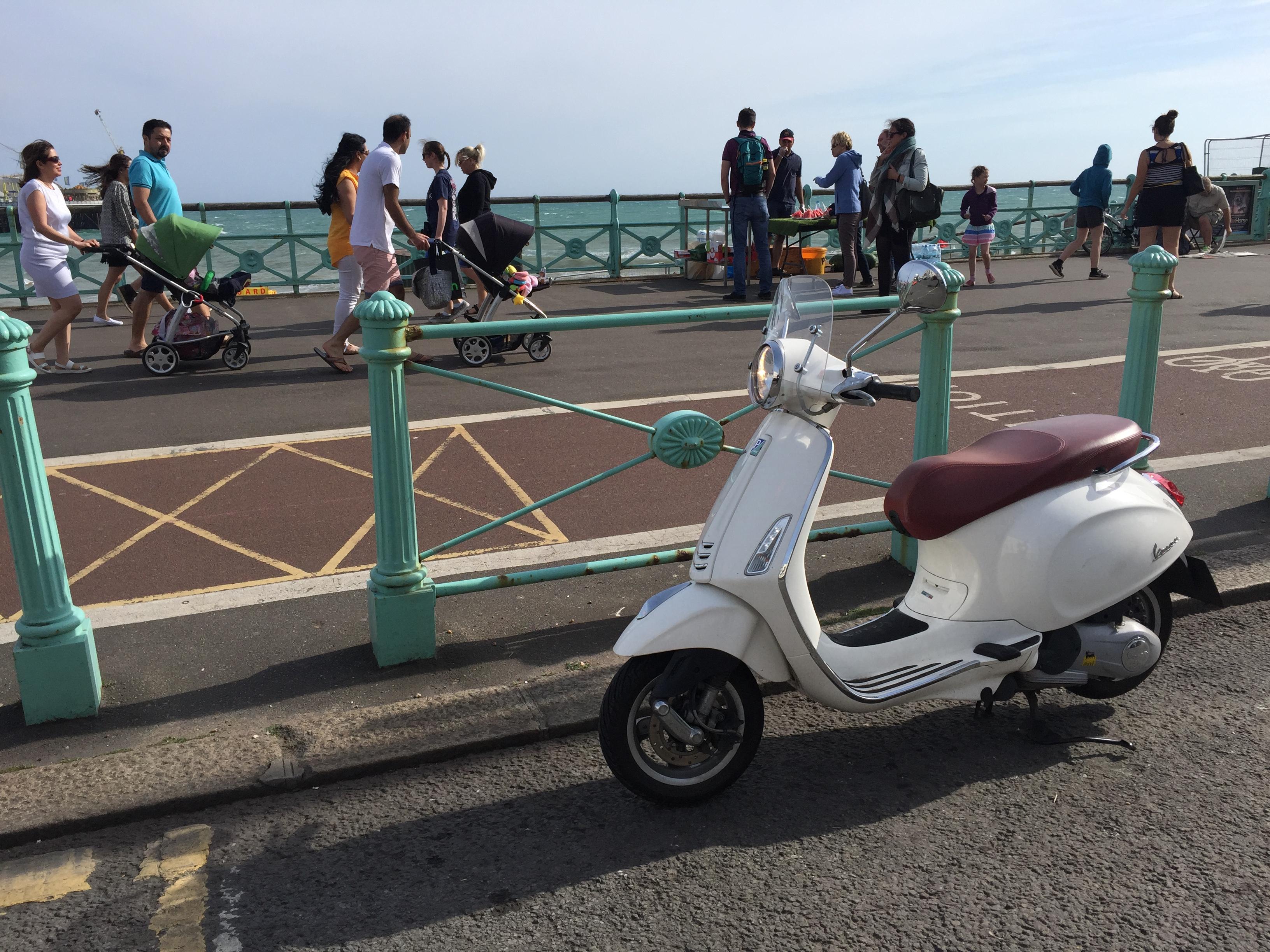Vespa in Brighton