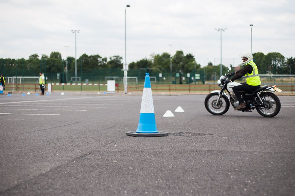 Rider taking CBT Training