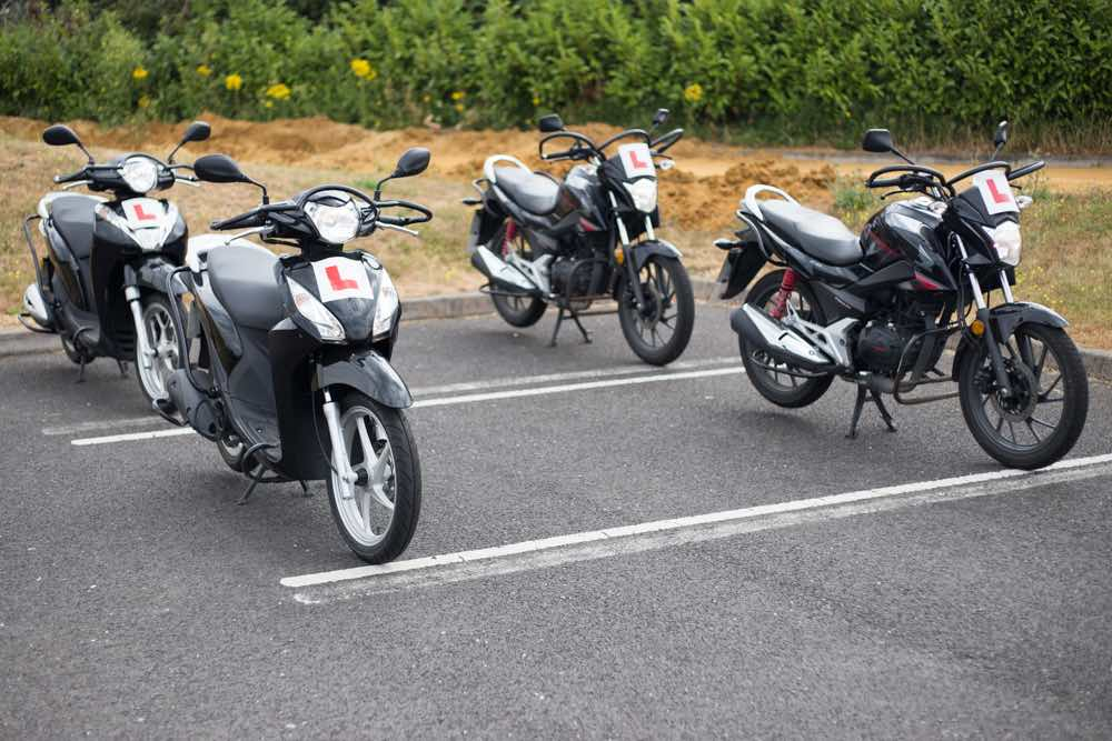 Scooters ready for training