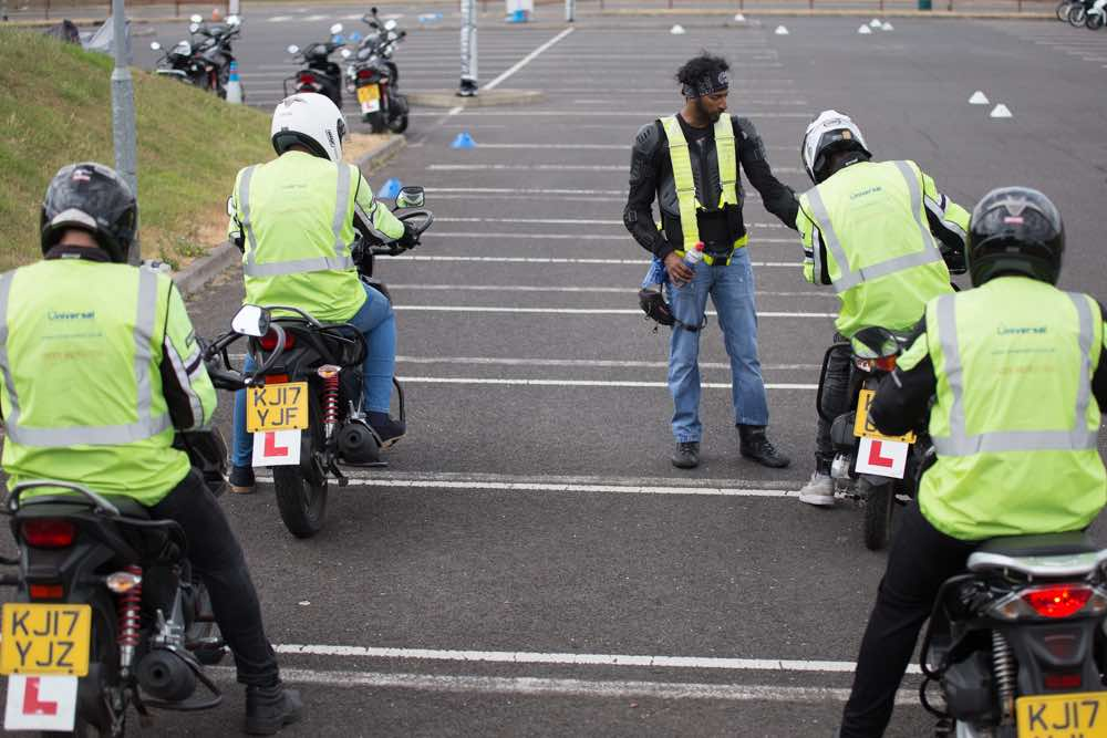 Instructor giving CBT training