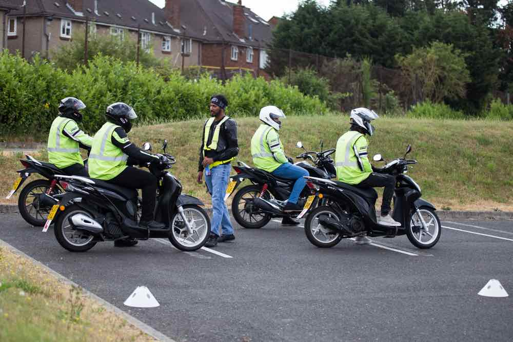 CBT Instructor giving instructions
