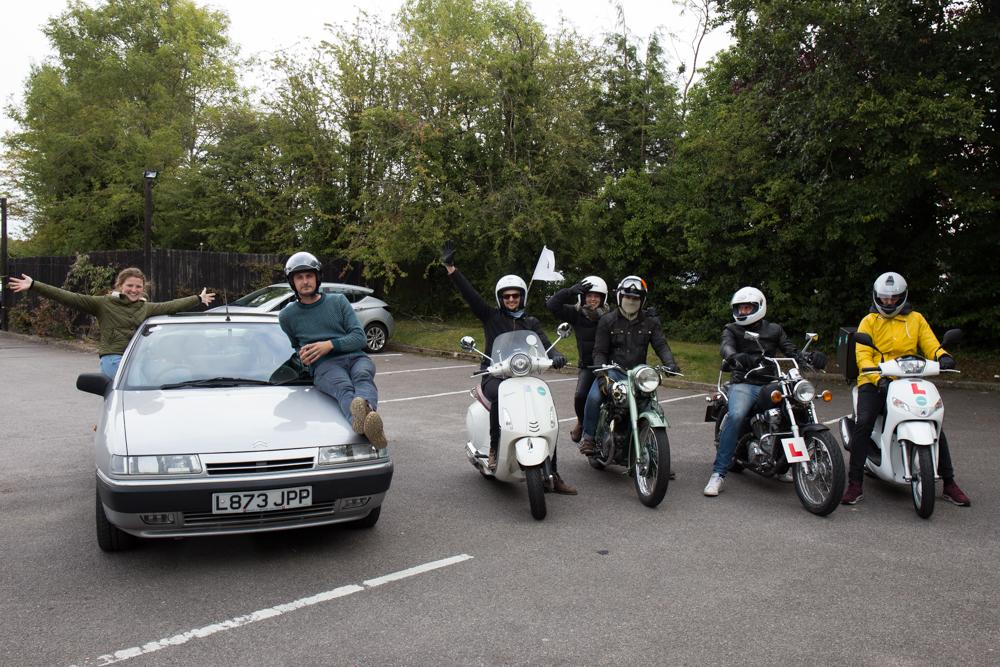 car and bikes